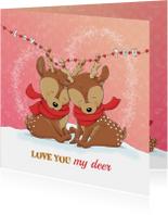 Liefde kaarten - Liefdeskaart love you my deer IH