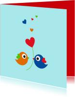 Lieve kleurige vogeltjes