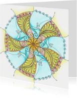 Kunstkaarten - Mandala kunstkaart