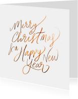 Kerstkaarten - Merry Xmas Handlettering