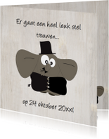 Mo Card trouwkaart olifanten stel