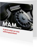 Moederdag kaarten - moeder telefoongesprekken