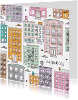 New York pastel illustratie