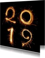 Nieuwjaarskaarten - Nieuwjaar -2019 vuurwerk