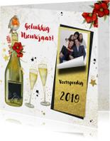 Nieuwjaar champagne foto