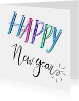 Nieuwjaar handlettering wit - HR