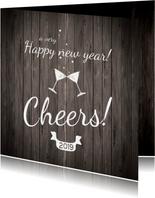 Nieuwjaarskaart cheers to 2019