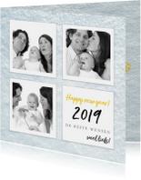 Nieuwjaarskaart gelukkig nieuwjaar collage foto