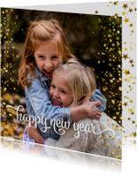 Nieuwjaarskaart happy new year sterren