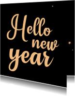 Nieuwjaarskaart Hello new year - SK