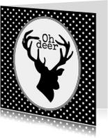 Kerstkaarten - Oh deer, it's christmas