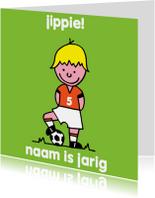 Kinderfeestjes - oranje voetbal leeftijd jongen