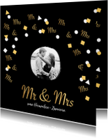 Trouwkaarten - Originele stijlvolle trouwkaart voor jullie grote dag