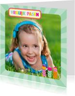 Paaskaart Eigen Foto Vrolijk Pasen