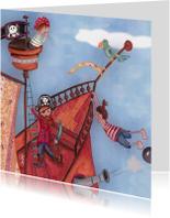 Piratenfeestje Kinderkaart