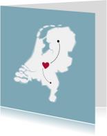 Verhuiskaarten - Plaatspin verhuiskaart