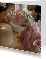Condoleancekaarten - Poederroze sterkte kaart