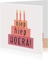 Verjaardagskaarten - Polkadot verjaardag