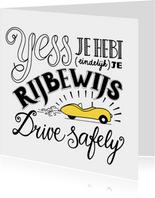 Rijbewijs - auto wit EM