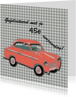 Verjaardagskaarten - Rode auto