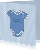Felicitatiekaarten - Romper voor kleinzoon
