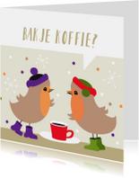Vriendschap kaarten - Roodborstjes uitnodiging