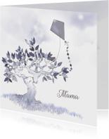 Rouwkaart brief voor mama