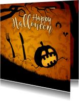Halloween kaarten - Run Pumkin Run - Happy Halloween