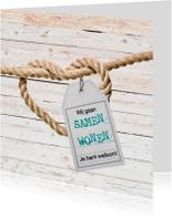 Verhuiskaarten - Samenwonen hart van touw