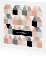 Verhuiskaarten - Samenwonen kaart Huisjes - HB