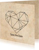 Save the date geometrisch hart