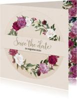 Save the date met rozenkrans