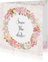 Save the date rozen pastel