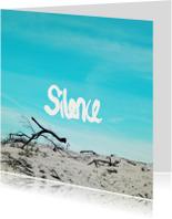 Condoleancekaarten - Silence engels condoleance