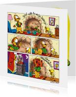 Sinterklaaskaarten - Sinterklaas Loeki schoen zetten - A