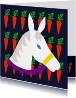 Sinterklaaskaarten - Sinterklaas paard