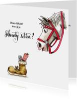 Sinterklaaskaarten - Sinterklaaskaarten schoentje zetten