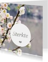 Condoleancekaarten - Sterkte bloesem rouwkaart