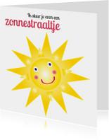 Sterkte kaarten - Sterkte kaartje met zonnetje