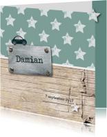 Geboortekaartjes - Stipt geboortekaartje Damian