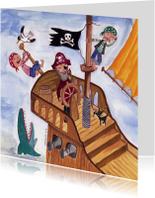Stoeren Piraten Kinderkaart