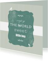 Felicitatiekaarten - Sweet little boy