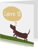 Liefde kaarten - Teckel liefde