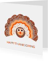 Kerstkaarten - Thanksgiving kalkoen