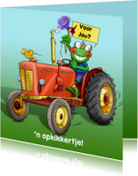 Trekker met opkikkertje voor agrariër of kind