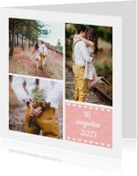 Trouwkaarten - Trouwkaart met eigen foto collage