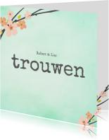 Trouwkaarten - Trouwkaart_Robert_Lise_SK