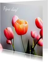 Tulpen schilderstijl eigen tekst
