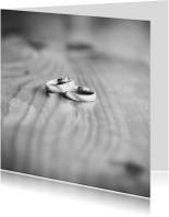 Trouwkaarten - two wedding rings