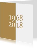 Jubileumkaarten - uitnodiging 50 gouden bruiloft